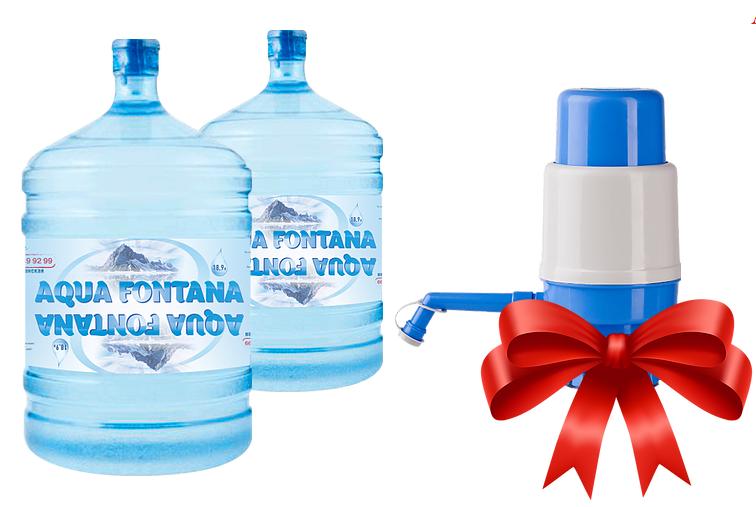 Заказ воды на дом с помпой в подарок 313